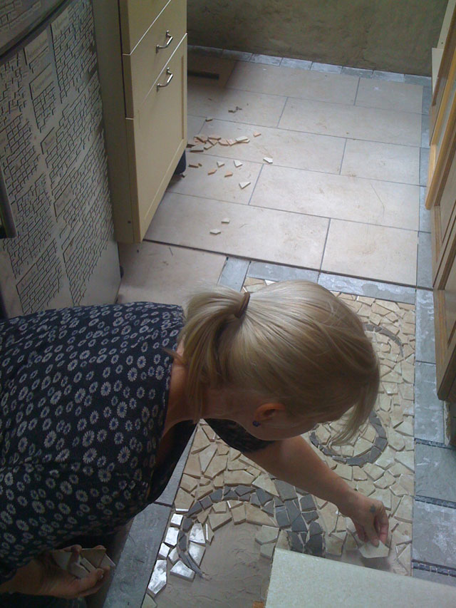 grace making the mosaic