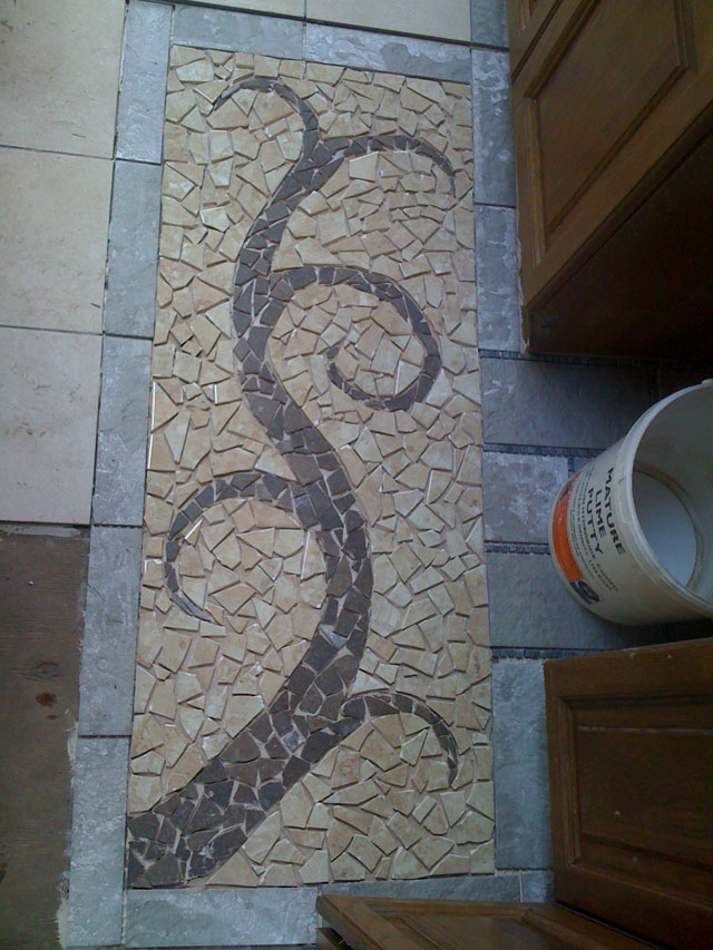 mosaic without grout