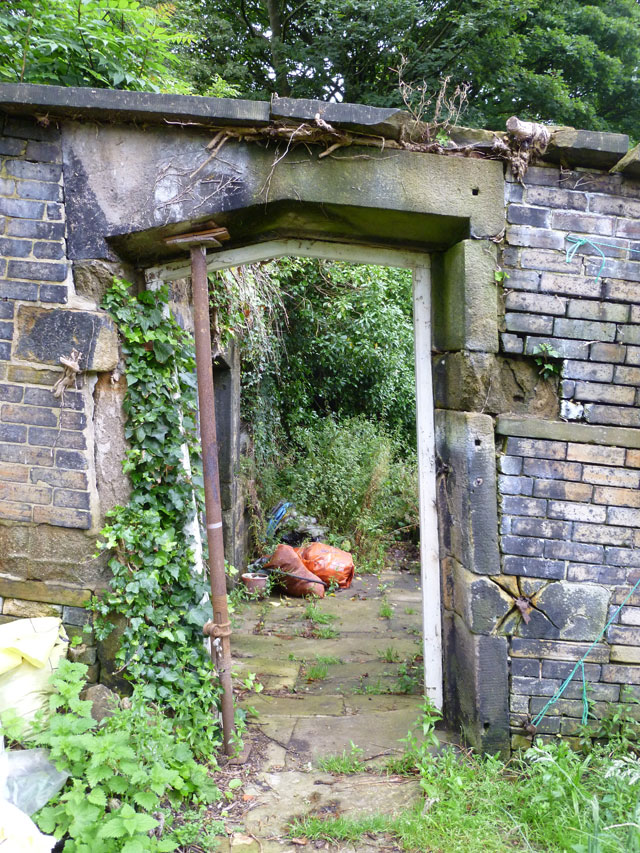 "the ""secret garden"" door"