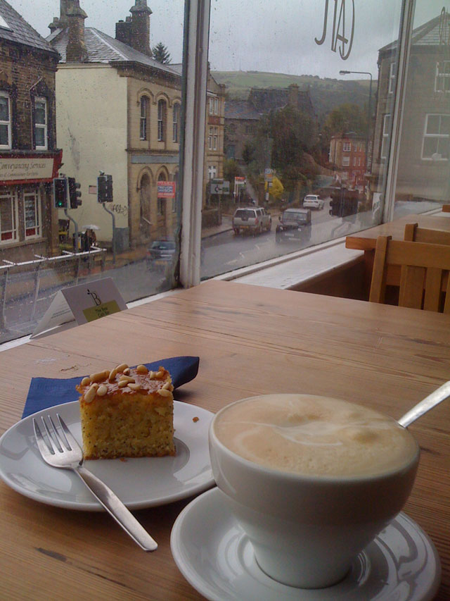 coffee and cake at The Bear