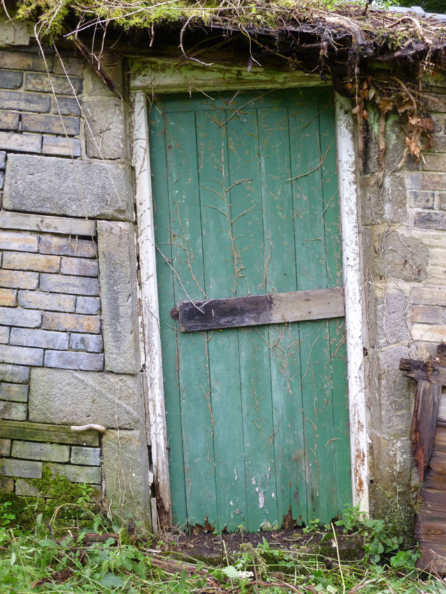 The door of the bottom shed