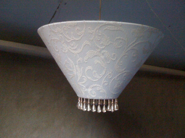 lampshade with bead trim