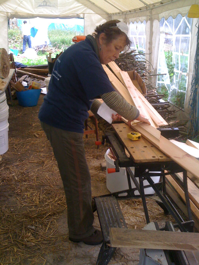 Sylvia cutting shiplap
