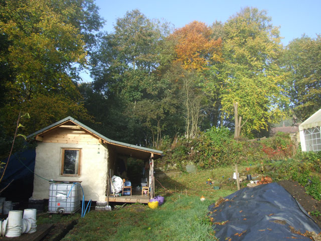 autumnal view of the cabin