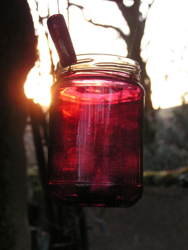 Lantern in the sun
