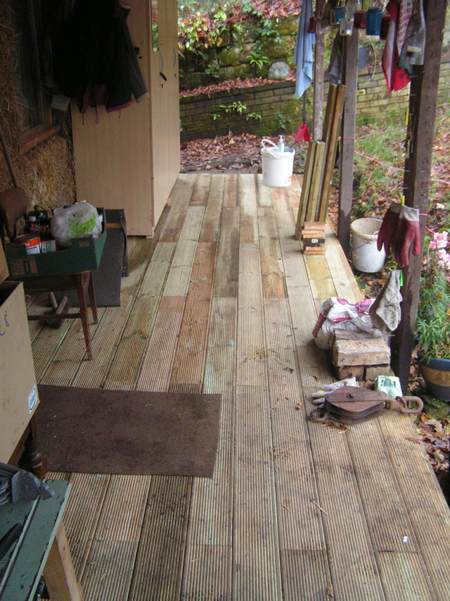 Floorboards on the porch