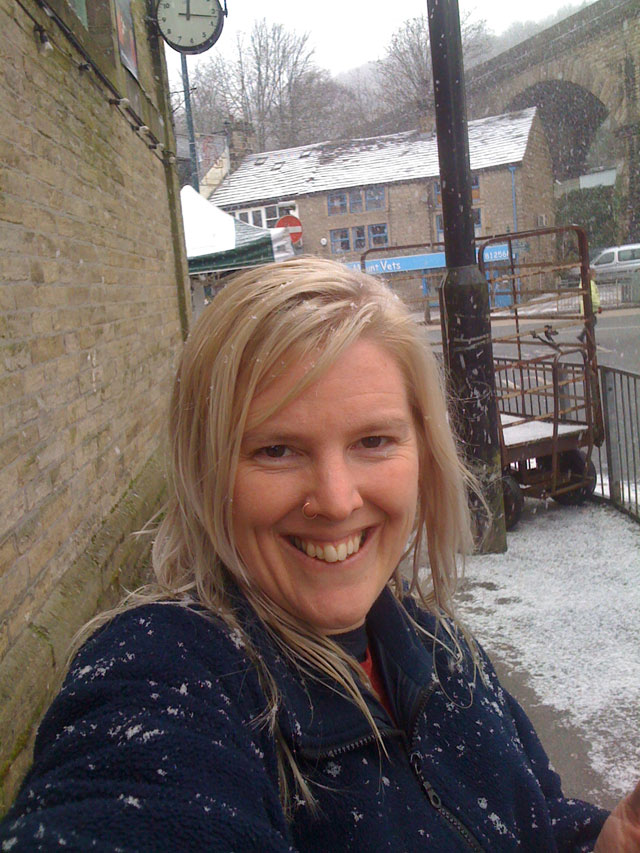 me loving the snow