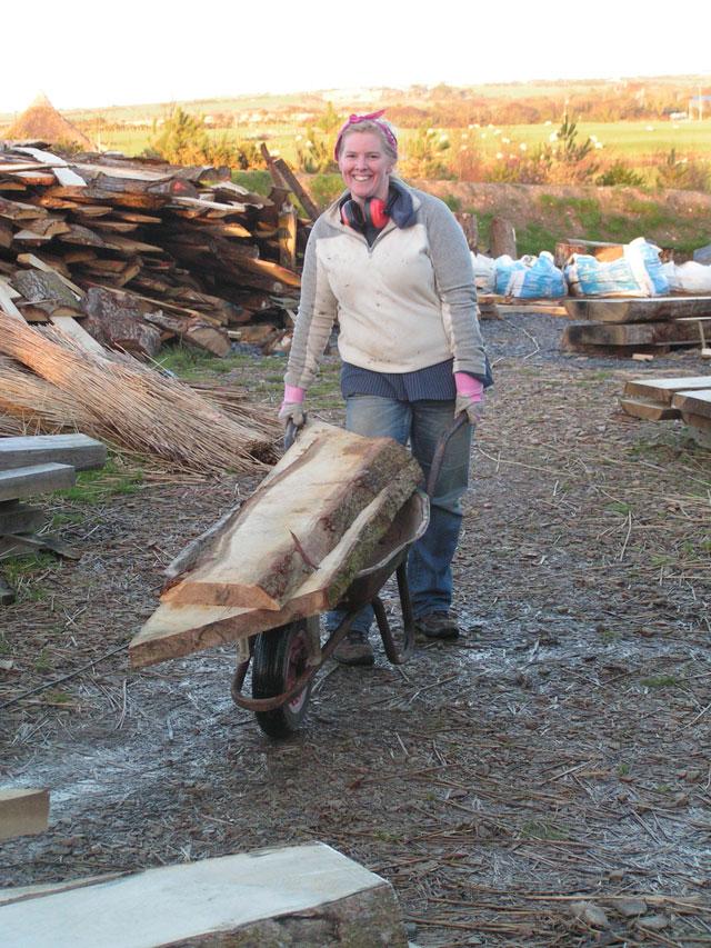hauling huge timbers
