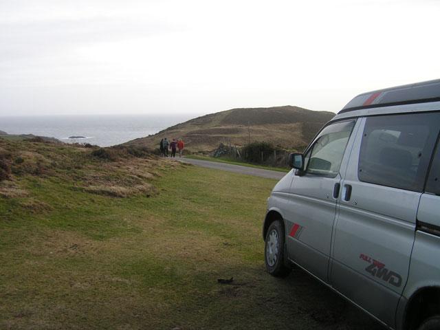 the van in Wales