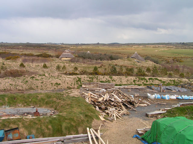 birds-eye view of the roundhouses