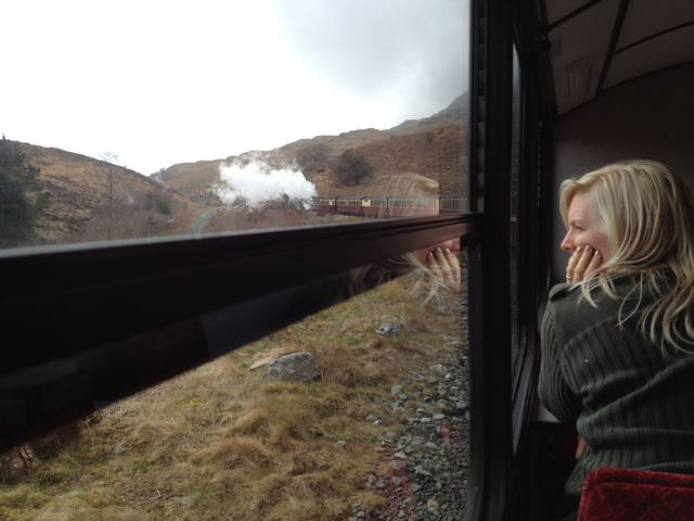 me on the steam train