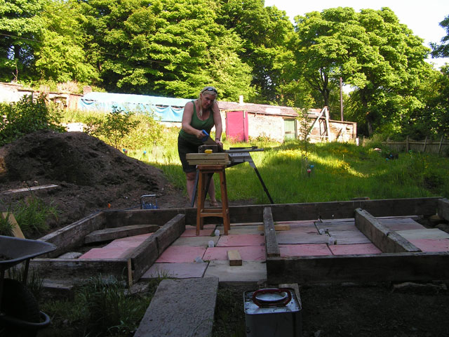 me framing the west wall