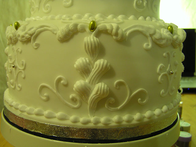white cake closeup
