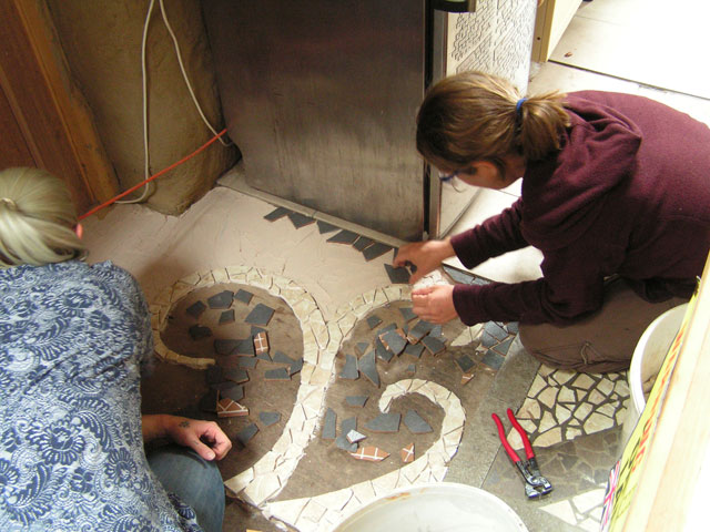 working on the mosaic