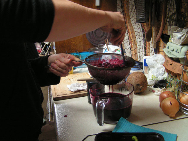 making damson jam