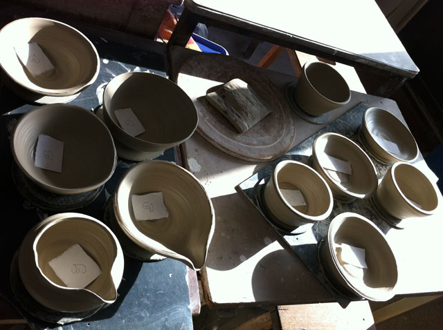 my pots, all ten of them.