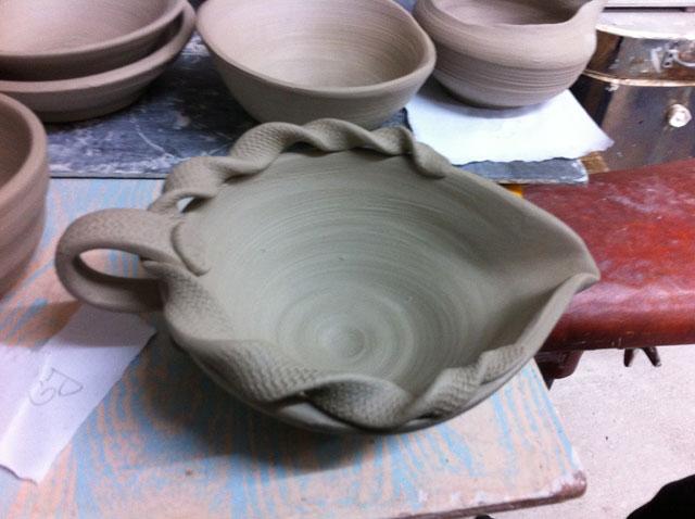 fancy bits on pottery