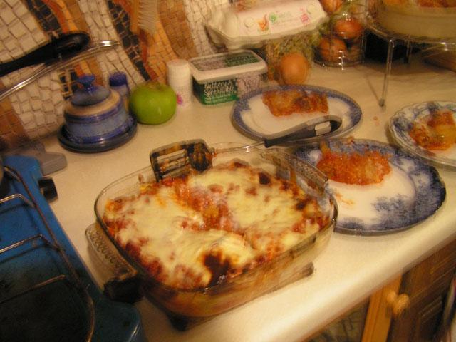 Anna's Lasagna baked