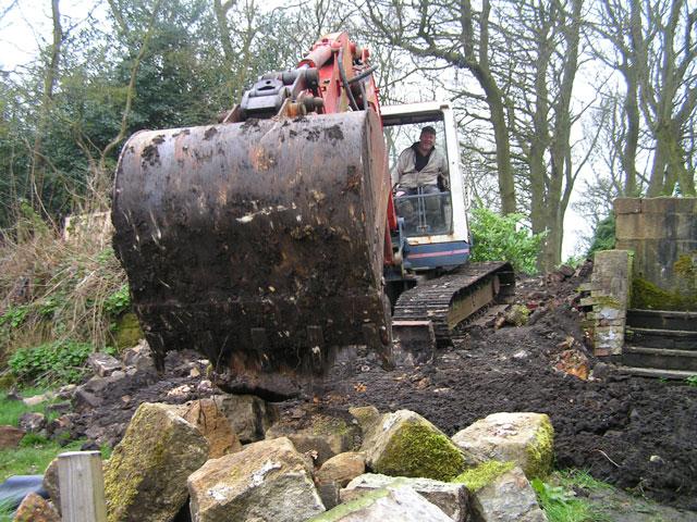 dumping stones
