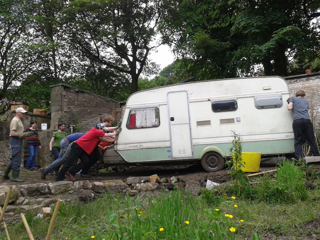 moving the caravan
