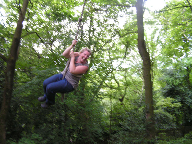 me on the rope swing