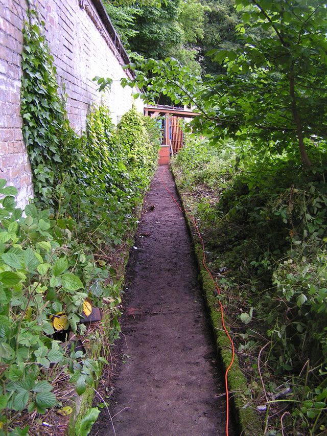 the path along the wall