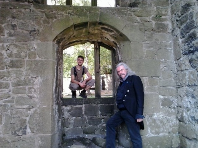 Alec and Daniel at Heptonstall