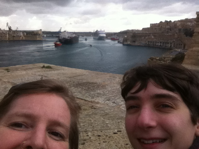 saw a really big boat being tugged into the harbour