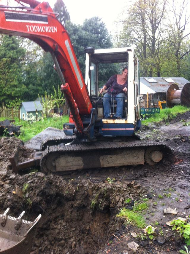 Grace drives the proper digger